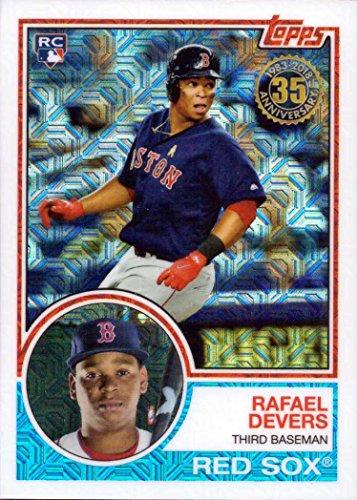 2018 Topps 1983 Design Chrome Silver Refractor #20 Rafael Devers Baseball Rookie Card