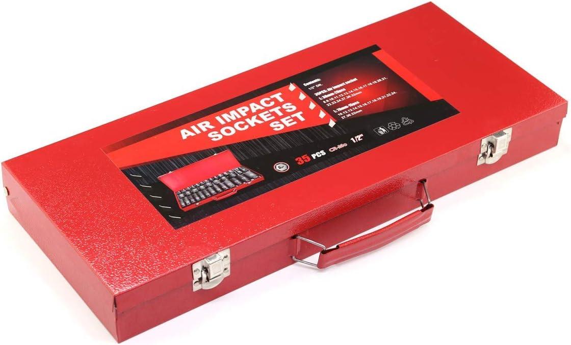 Atelier,8-32 MM pour Garage MultiWare 35pcs Douilles /à Choc 1//2,Lot de Douilles /à Choc m/étriques