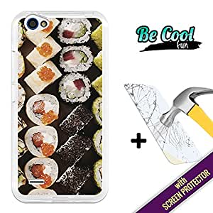 Becool® Fun- Funda Gel Flexible para ZTE Blade A460 [ +1 Protector Cristal Vidrio Templado ]Carcasa TPU fabricada con la mejor Silicona, protege y se adapta a la perfección a tu Smartphone y con nuestro exclusivo diseño Me gusta el sushi
