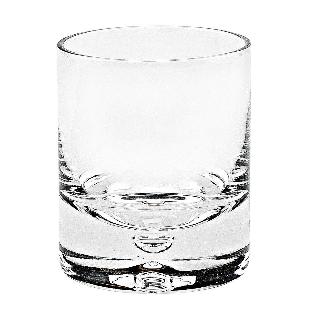 Badash - Galaxy Design Mouth Blown UnLeaded Crystal 4 pc. Set of Rocks Glasses With Thick Sham and Bubble in Base - 10 Ounces