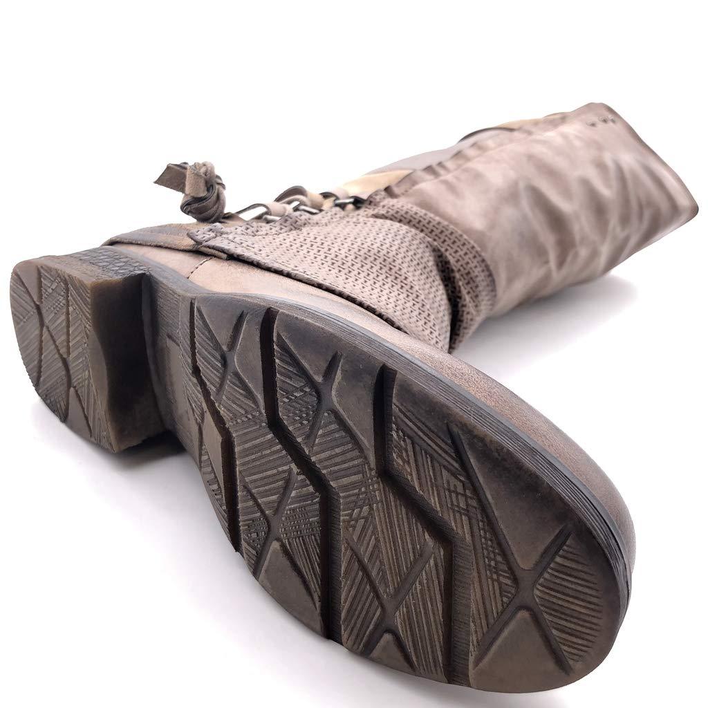 Angkorly - Damen Schuhe Schuhe Schuhe Oberschenkel-Stiefel Stiefel - Biker - Reitstiefel Kavalier - Classic - Nieten - Besetzt - Geflochten - Krokodil Blockabsatz 3.5 cm b50861
