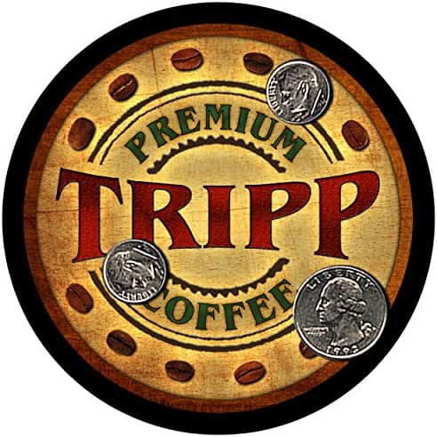 Tripp Family Coffee Rubber Drink Coasters - Set of 4