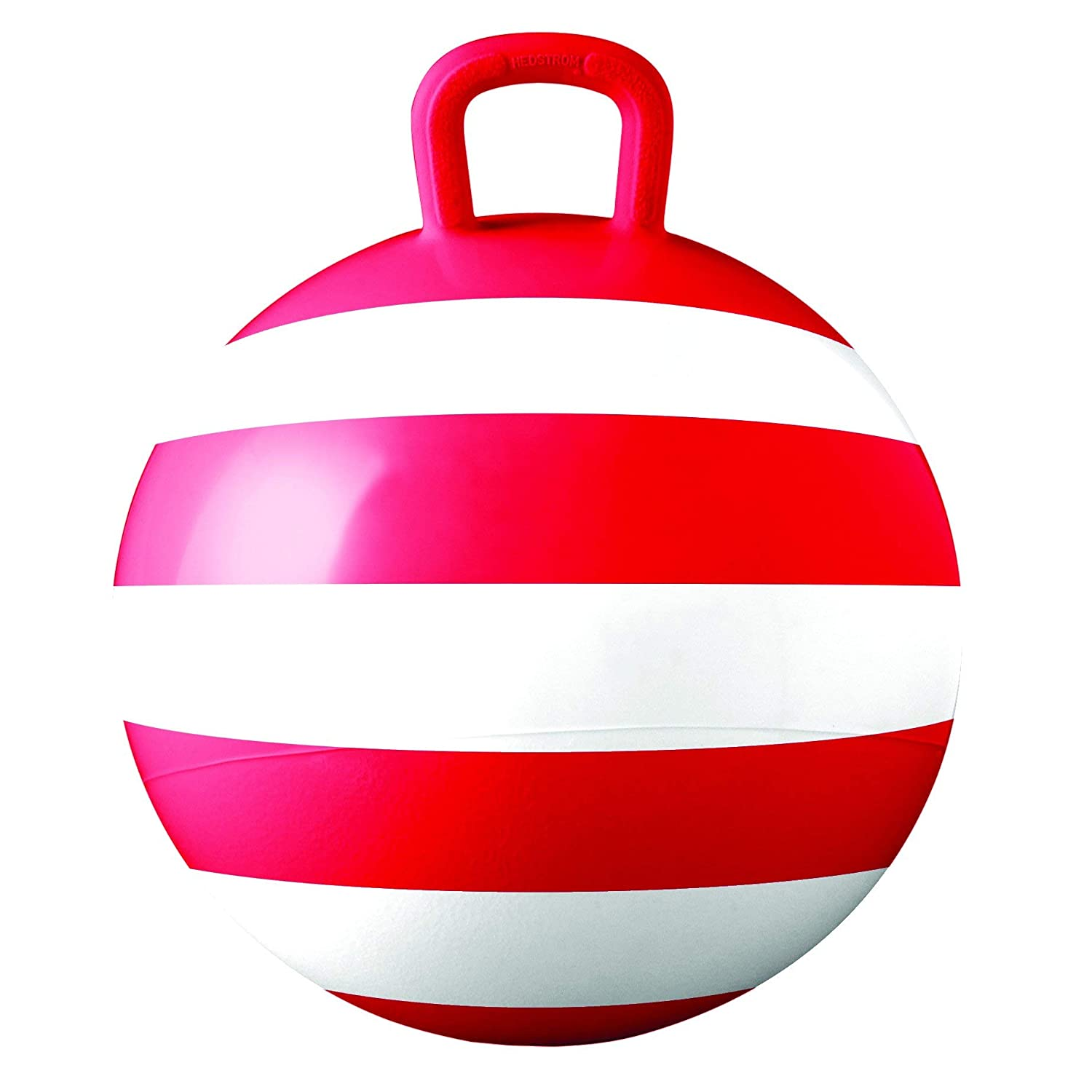 Hedstrom Red Striped Hopper Ball Kid's ride on toy Bouncy hopping ball with handle 15 Inch