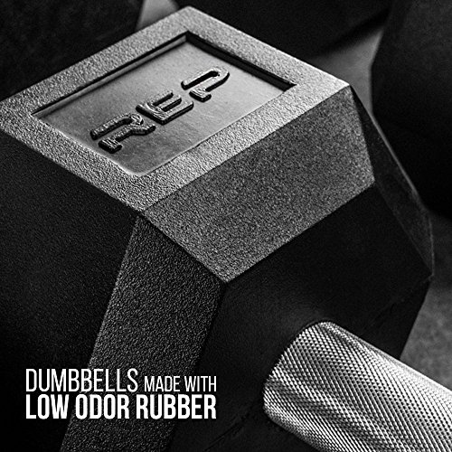 Rep Rubber Hex Dumbbells, 30 lb Pair by Rep Fitness (Image #3)
