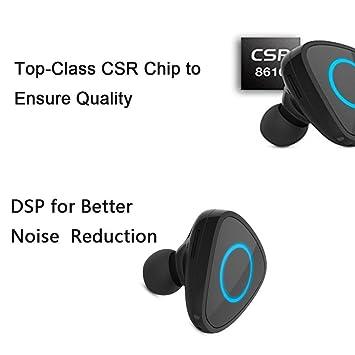 TKSTAR Mini Auricular Bluetooth, Más pequeña llamada Bluetooth Mini botón de los auriculares con Bluetooth