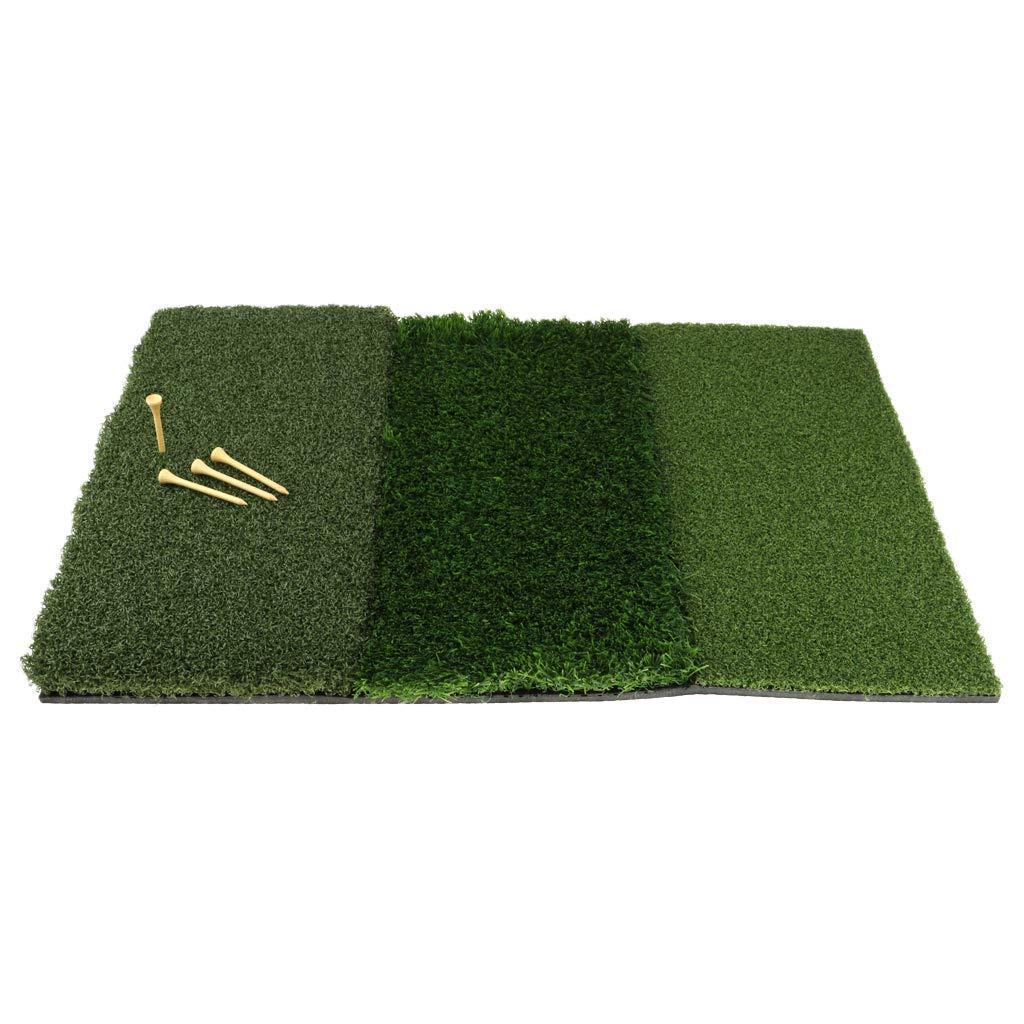 Prettyia ポータブル ホーム 裏庭 ゴルフマット ゴルフ トレーニング ヒッティング GPad ゴルフ練習マット グリーン 60 x 40cm   B07HJ4XDYP