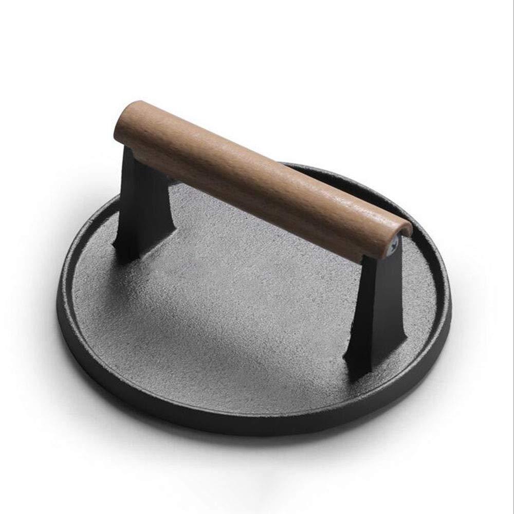 Groovy Pre Seasoned Cast Iron Flat Meat Grill Press Steak Weight Inzonedesignstudio Interior Chair Design Inzonedesignstudiocom