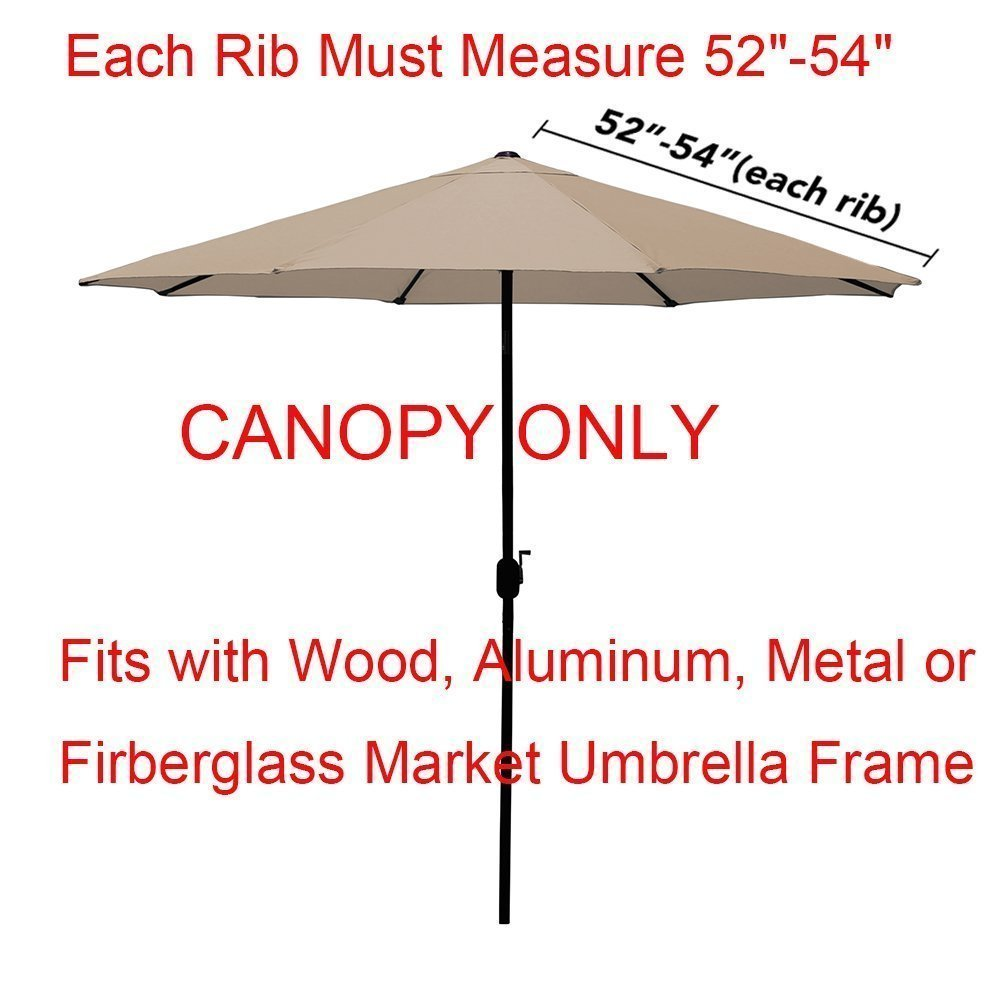 EliteShade 9ft Patio Umbrella Market Table Outdoor Deck Umbrella Replacement Canopy (Turquoise) by EliteShade (Image #2)
