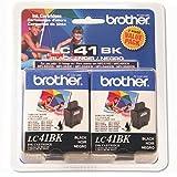 Brother Black Ink Cartridge - 2 Pack (LC41BK2PKS) - Retail Packaging