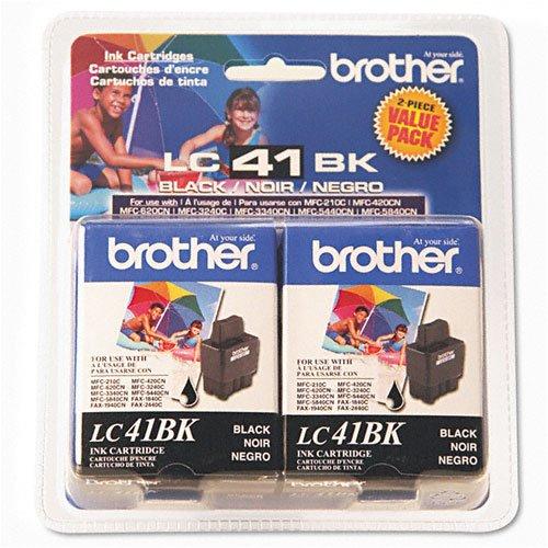 Brother Black Ink Cartridge LC41BK2PKS