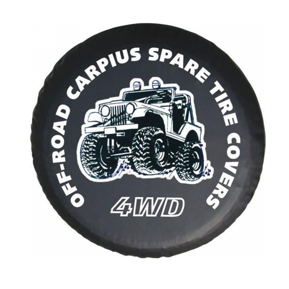 Auto pneumatico di ricambio di schermo scorta del pneumatico auto copertura Pneus de carro ruota di scorta nero PU rimorchio Leather Car styling nero 4 WD 14 15 16 17 1 x RGAta