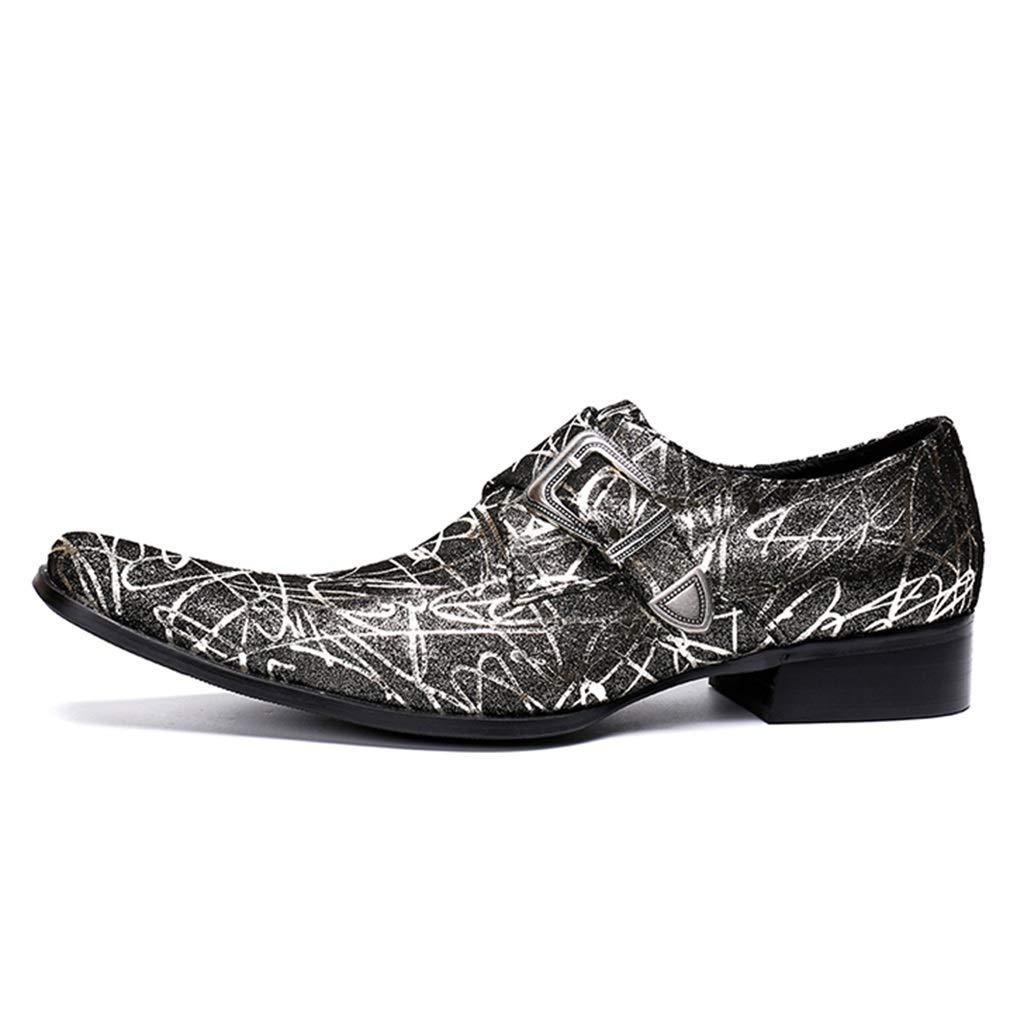 YAN Zapatos Formales para Hombres Zapatos de Vestir de Moda con Punta de Piel Mocasines y Zapatillas de Deporte de otoño Zapatos de Boda/Fiesta y Noche (Color : UN, tamaño : 38)