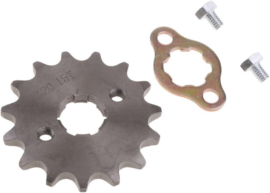 Schwarz H HILABEE 420 Metall Kettenrad Vorderrad Kettenbl/ätter f/ür 110cc// 125cc Dirt Bike 420-14T-20mm /Φ 20mm// 17mm Wahlbar