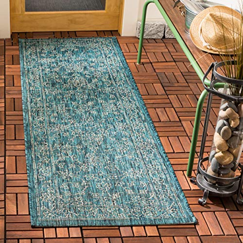 Safavieh CY8680-37221-214 Courtyard Collection CY8680-3722 Turquoise (2'3