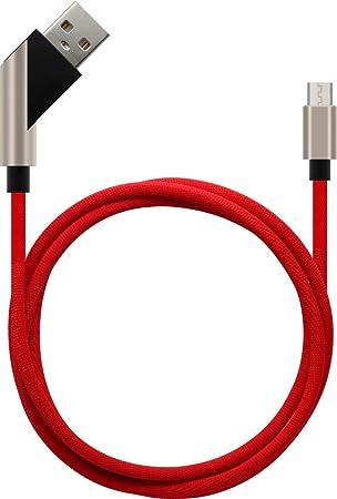 Sweet Tech USB Typ-C Kabel 2.4A Schnelllade- und Datenübertragungskabel - Rot für Blackview BV5000 5.5 inch