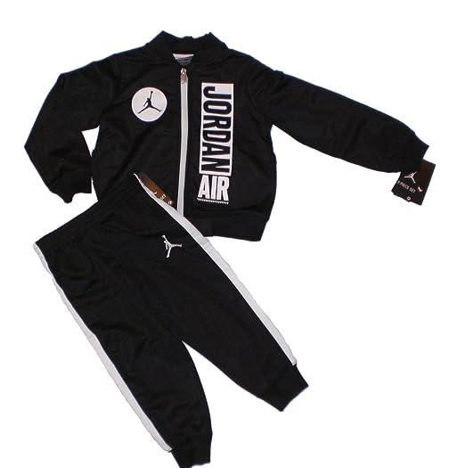 2c368262465 Amazon.com: Nike Jordan Jumpman Boy Jacket Tracksuit Pants Outfit Set,  Black/White, 6: Clothing