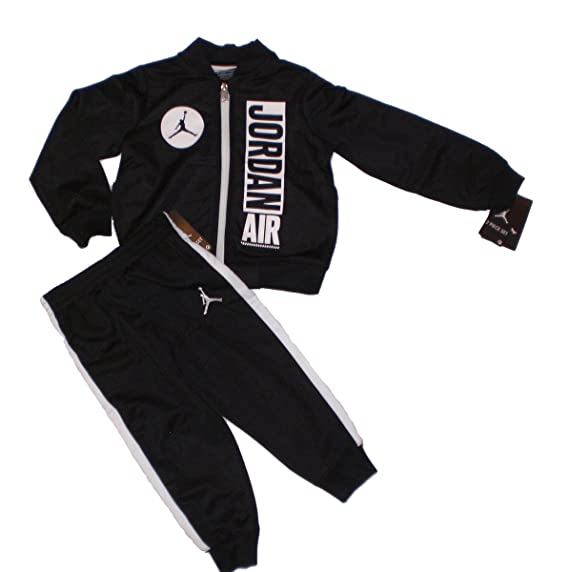 be3eb787098 Nike Jordan Jumpman Boy Jacket Tracksuit Pants Outfit Set Black/White 6:  Amazon.in: Clothing & Accessories