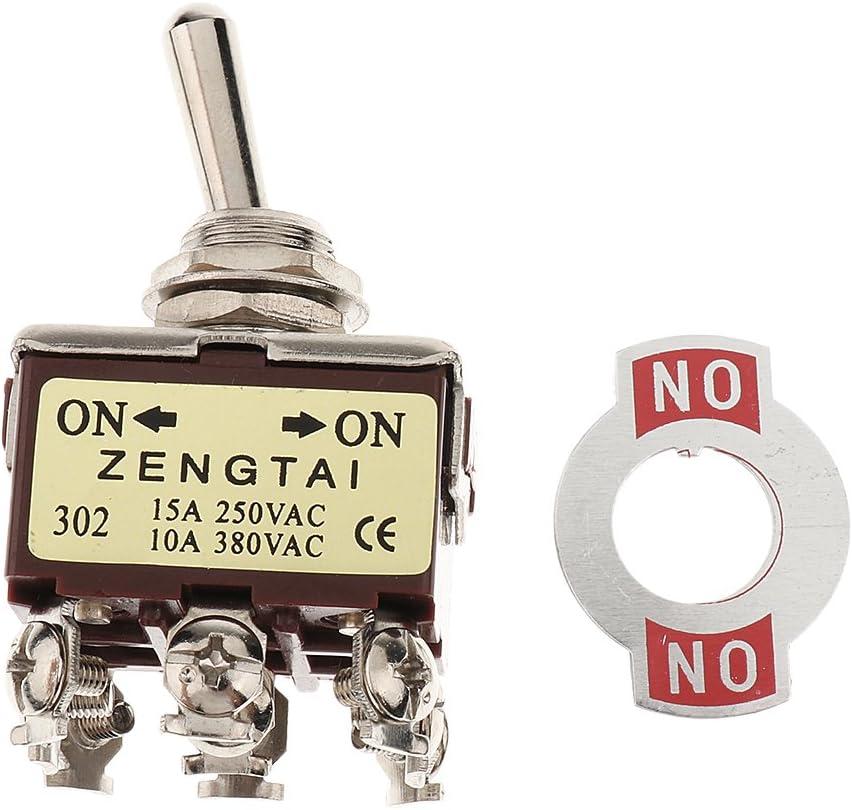Homyl Interrupteur /à Bascule Toggle Switch 3PDT on-Off-on 9 Broches Rocker 3PDT on//Off//on 2 Position