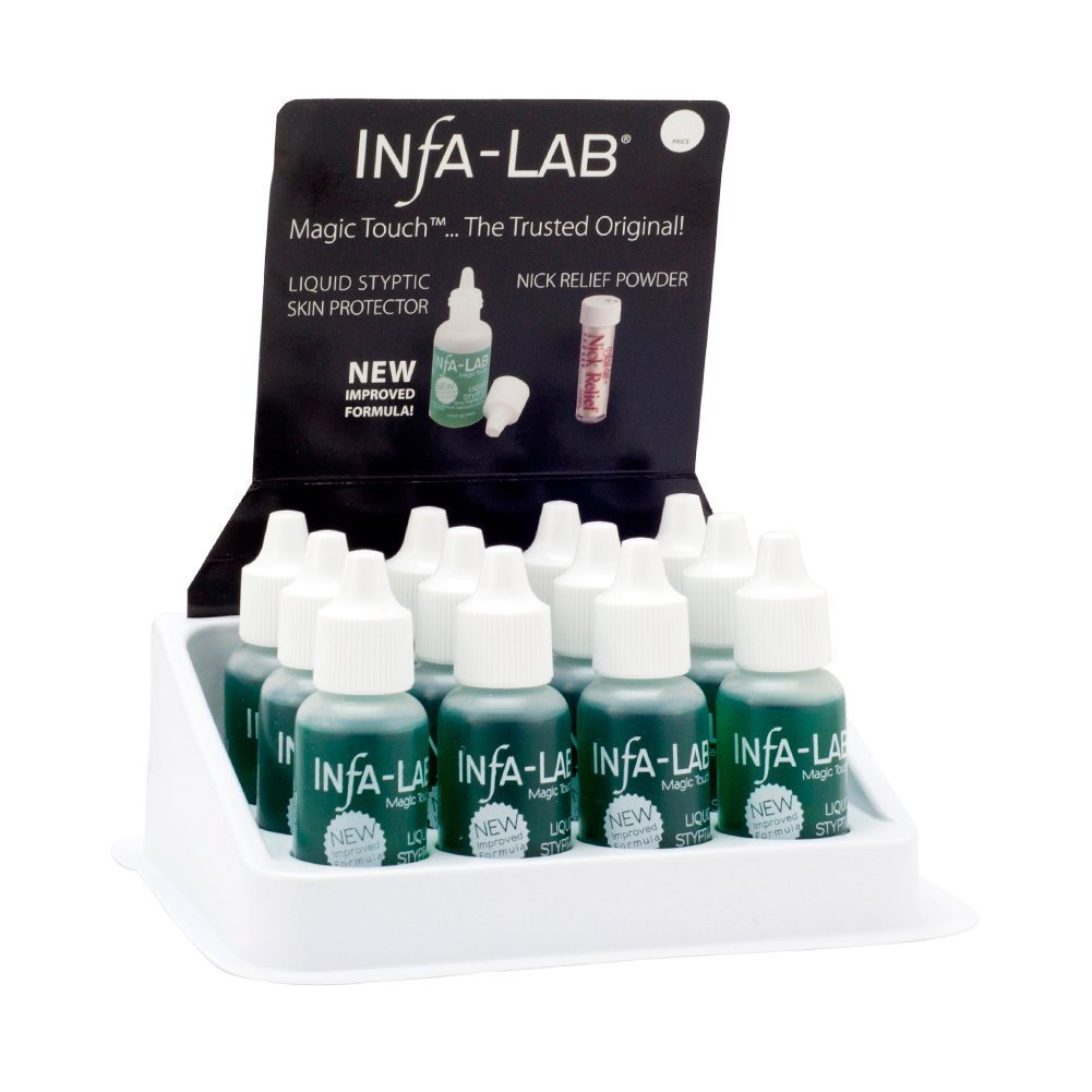 Infa-Lab MAGIC TOUCH Liquid Styptic 12 Skin Protector Stop Bleeding InfaLab Nail by Infalab