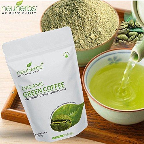 Neuherbs Organic Green Coffee Beans Powder for Weight Management 200g (Pack of 2)