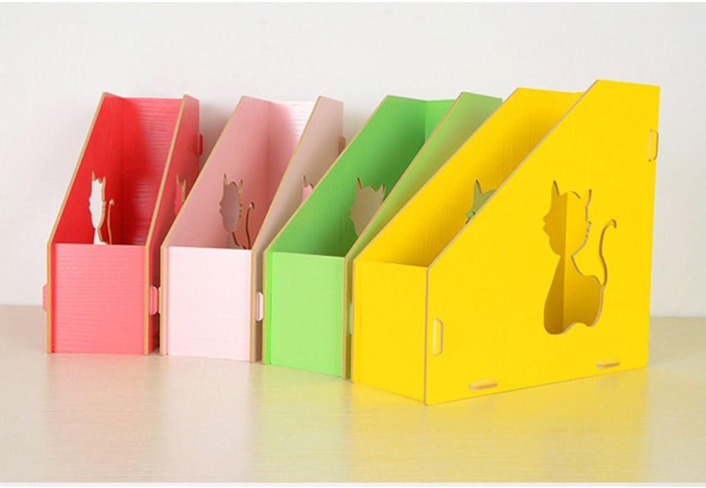 Sayeec Da scrivania Per documenti libri Pink-Triplicate Organizer Con divisori Robusto riviste