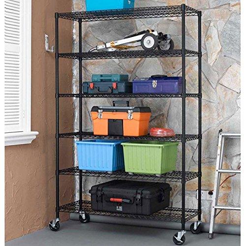 Metal Storage Shelves With Wheels Amazon Com