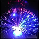 Colour Changing Fibre Optic Fountain - Night light Calming Lamp