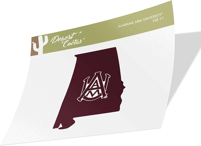 Alabama A/&M University AAMU Bulldogs NCAA Vinyl Decal Laptop Water Bottle Car Scrapbook State Boarder Sticker