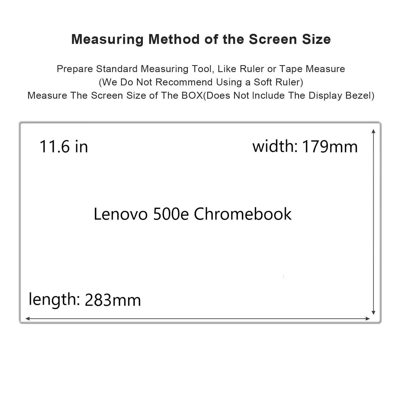 Lenovo 500e Chromebook Screen Protector,HD Clear LCD Anti-Scratch Anti-Fingerprints Guard Film For 11.6'' Lenovo 500e Chromebook 2-in-1 Laptop(2-pack) by Liudashun (Image #2)