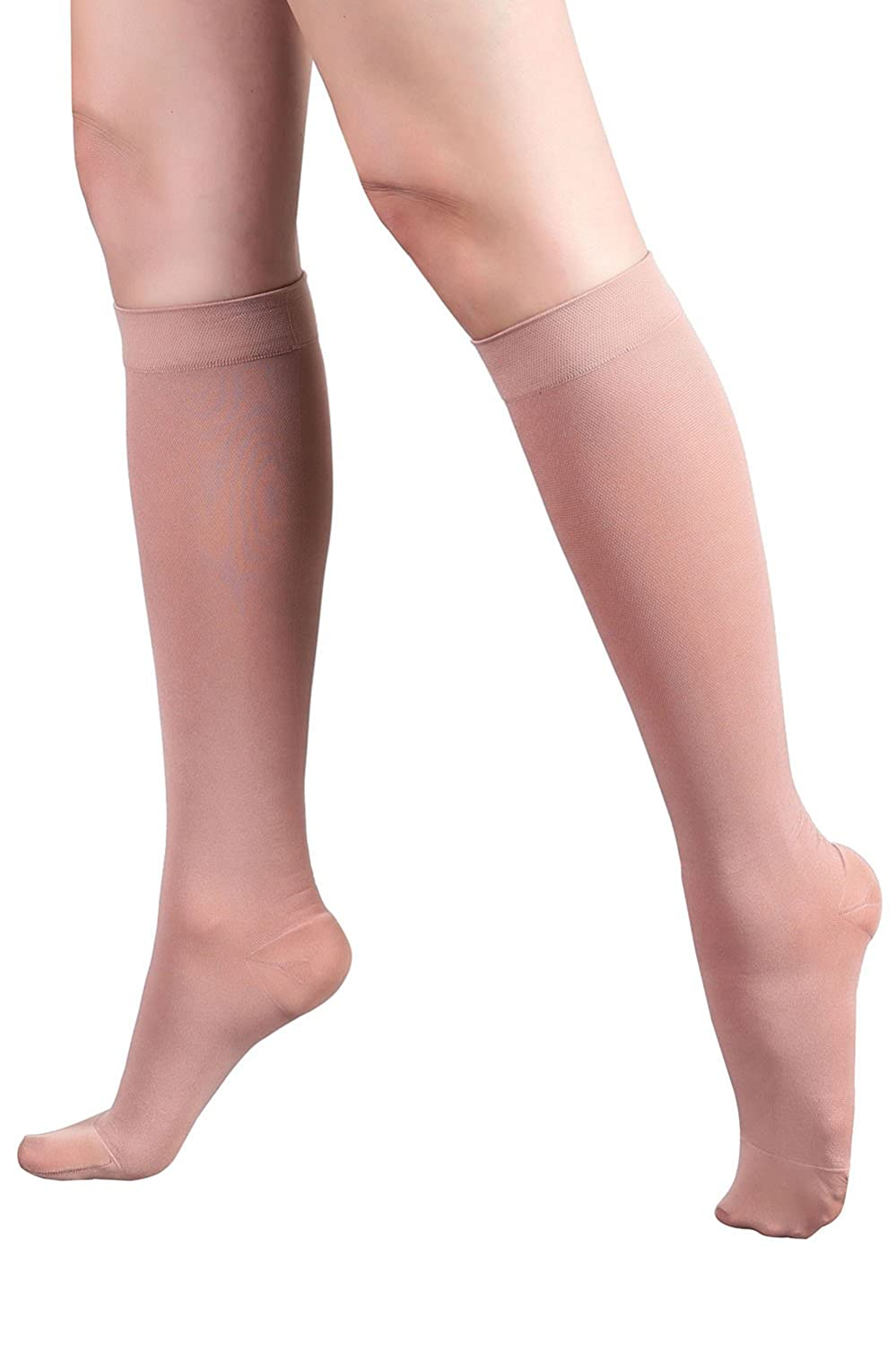 d588d9dfd33 Amazon.com  +MD Graduated Compression Socks 30-40 mmHg Extra Firm Pressure  Knee High Medical Support Stockings NudeM L  Health   Personal Care