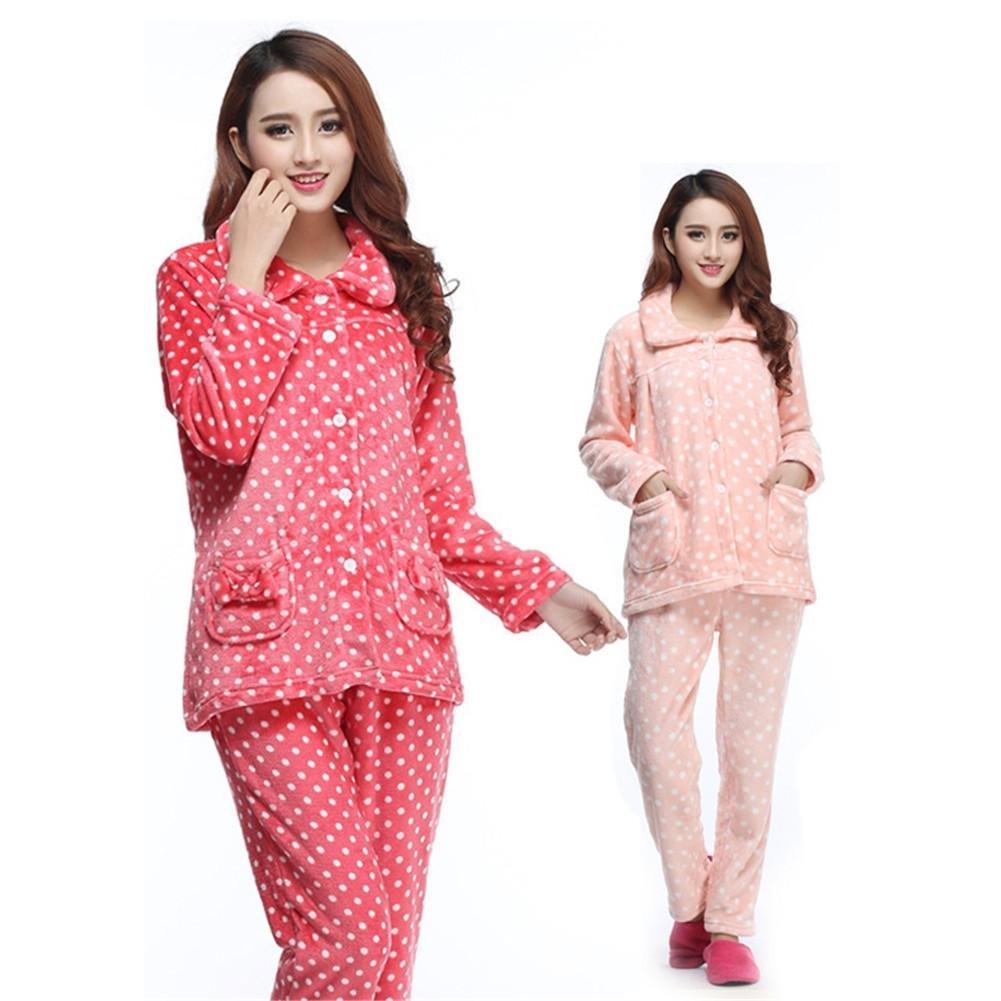 Ropa de 7835 dormir Suite Pijamas Coral de la mujer largo - mangas ...
