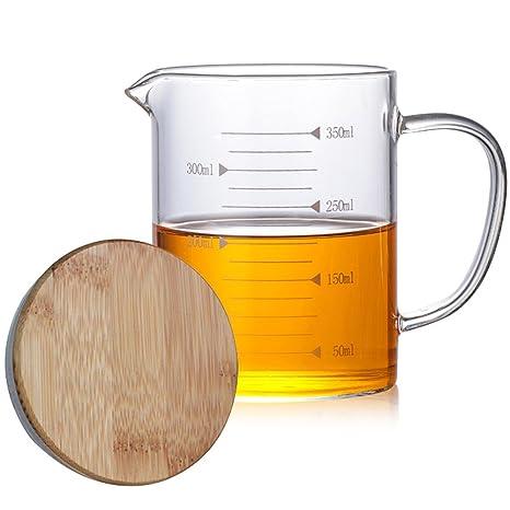Amazon.com: TAMUME Vaso medidor para hornear, con tapa de ...