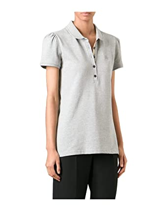 BURBERRY - Polo pour Femme YSM70254 - Gris (Pale Grey Melange), XS ... eee454cd1718