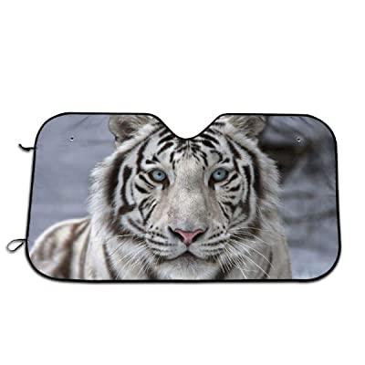 White Tiger Snow Auto Windshield Sun Shade Car Front Window Sunshade-UV Protection Double Bubble Foil Jumbo Foldable Sunshade for Car Prevent Your Car from Sun Heat & Glare Keep Vehicle Cool: Garden & Outdoor