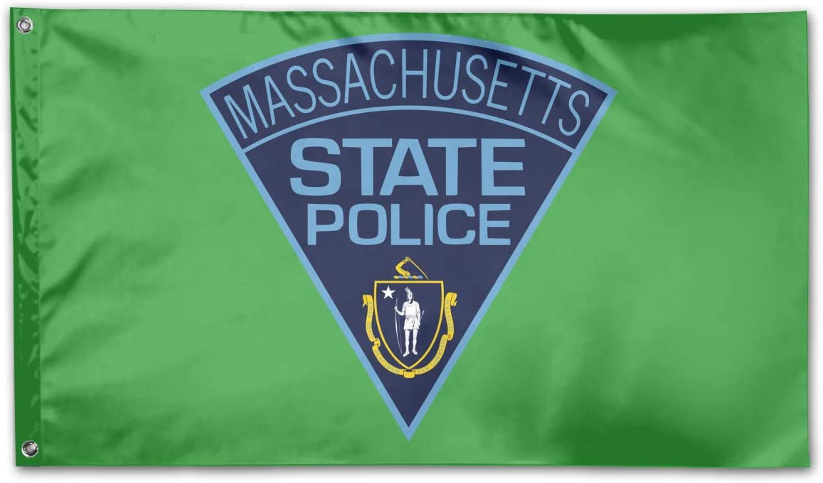 Massachusetts State Police Home Flags 3 X 5 in Indoor&Outdoor Decorative Home Fall Flags Holiday Decor