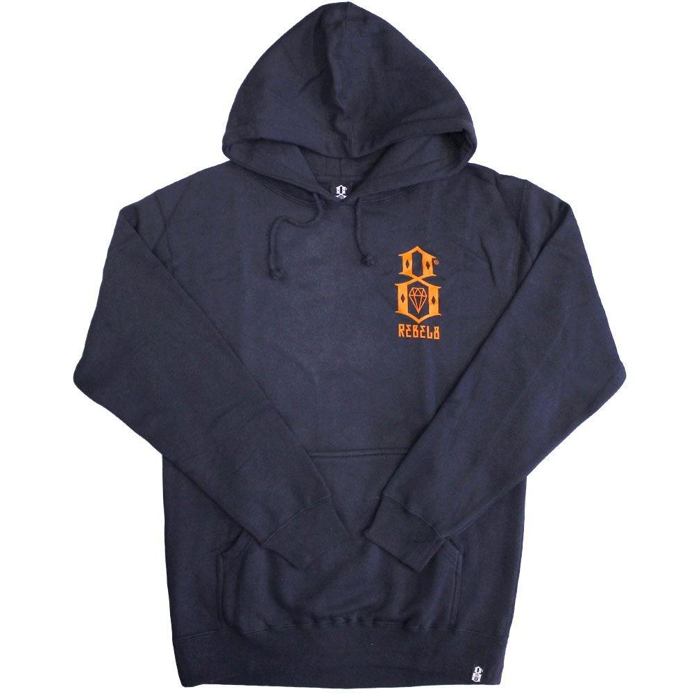 Rebel8 Logo Pullover Hoodie Navy