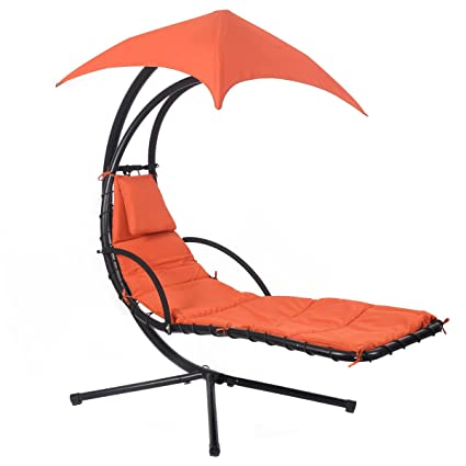 Brilliant Amazon Com Modern Orange Hanging Chaise Lounge Chair Swing Spiritservingveterans Wood Chair Design Ideas Spiritservingveteransorg