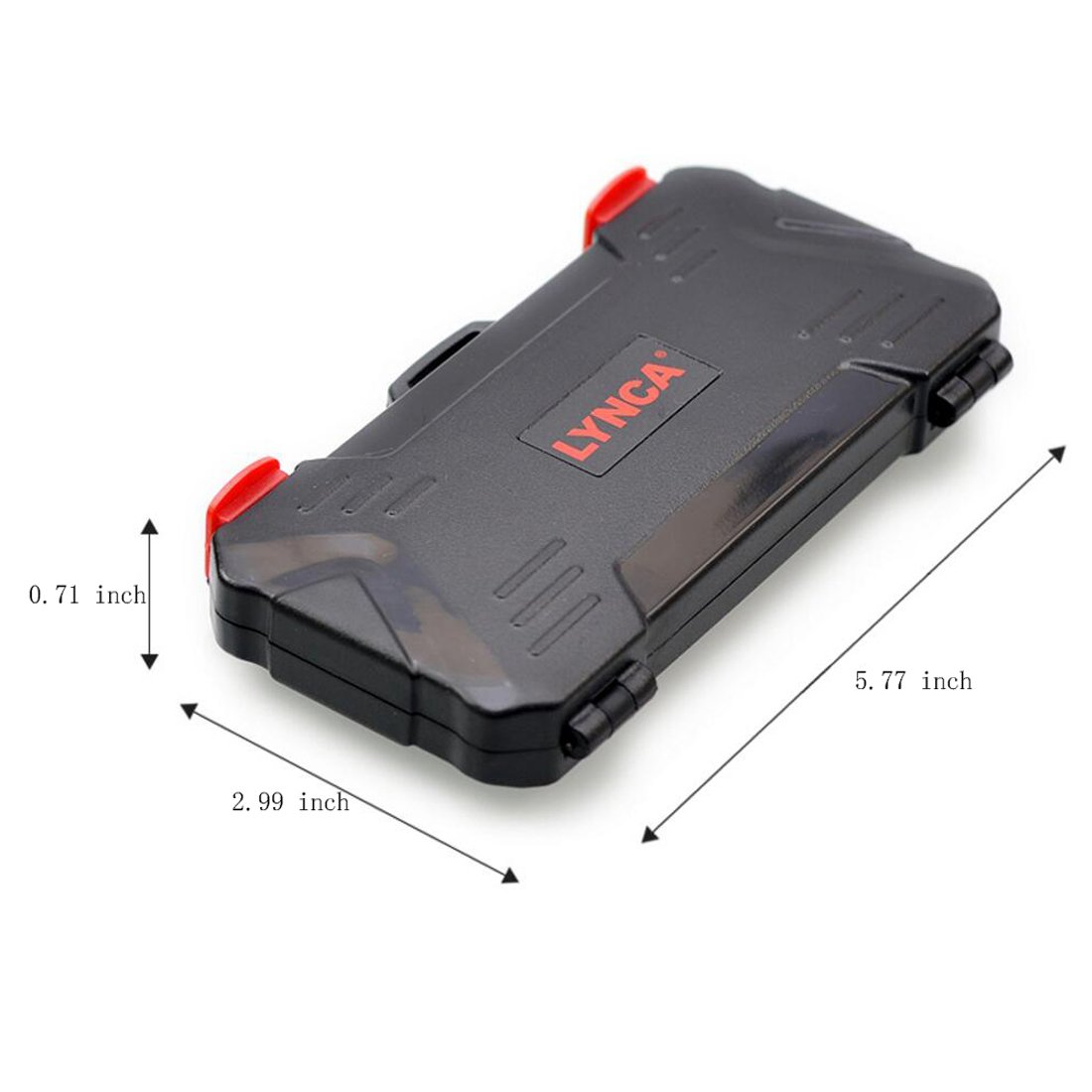 LXH BD-12 Black Tough Water Shock Resistant Protector Memory Card Carrying Case Holder 24 Slots for SD SDHC SDXC and Micro SD TF 12TF+12SD