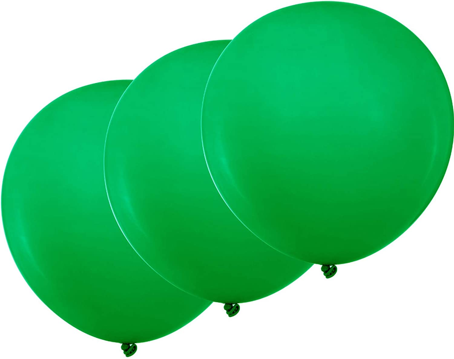 ZOOYOO 18 inch Green Balloons Quality Latex Balloons Party Decorations Supplies Pack of 12