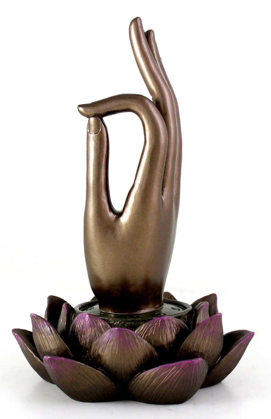 Top Collection Buddha Hand and Lotus Flower Vitarka Mudra Incense Holder Incense Burner by Top Collection (Image #2)