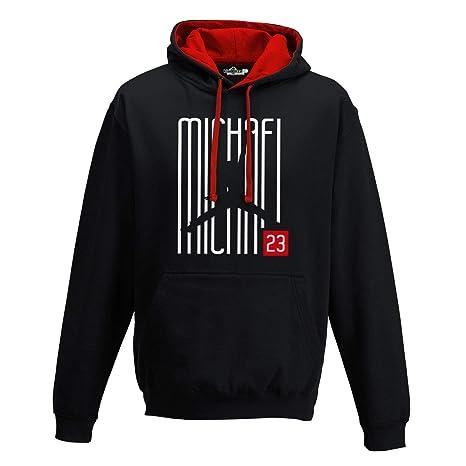1417b8fa67618 Felpa mod. Girocollo Michael Jordan - Streetwear Felpa Bianca Nera Taglie  Adulti e bambini ragazzi