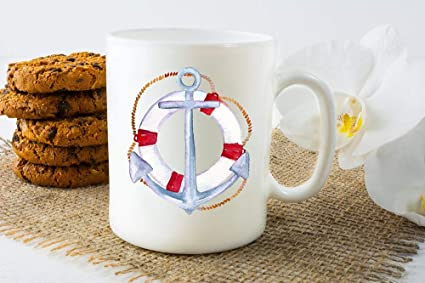 Image Unavailable & Amazon.com: Nautical Coffee Mug Anchor Coffee Mug Gifts for Boaters ...