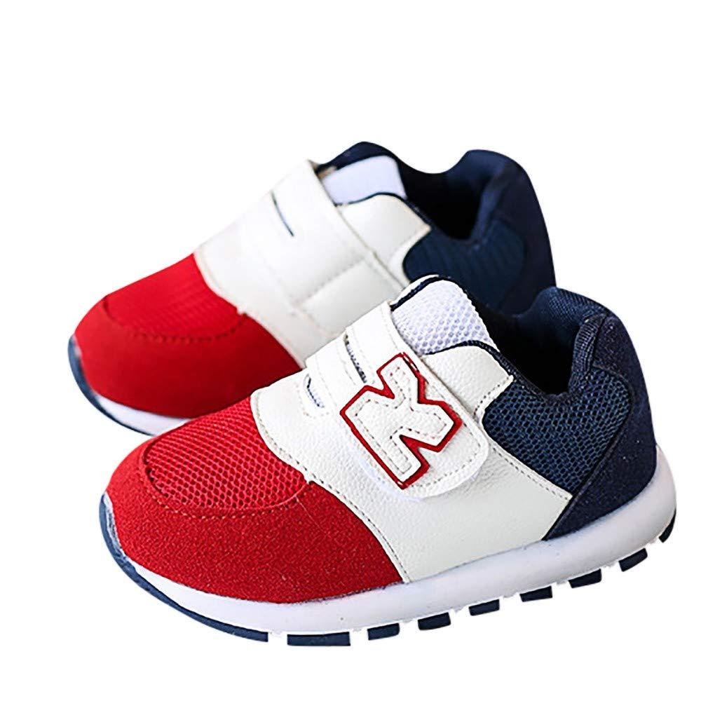 Xinantime Chaussures Bé bé , Enfants Infant Kids Lettre Couleurs Maille Mixte Couleurs Courir Sport Chaussures Casual Sneakers Enfant Baskets