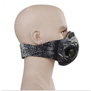 Color antipolvo máscaras máscara de fitness con filtro de carbono para correr equitación esquí, actividades