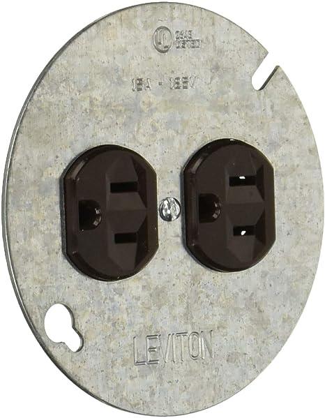 Leviton  15 amps 125 volt Brown  GFCI Outlet  5-15R  1 pk