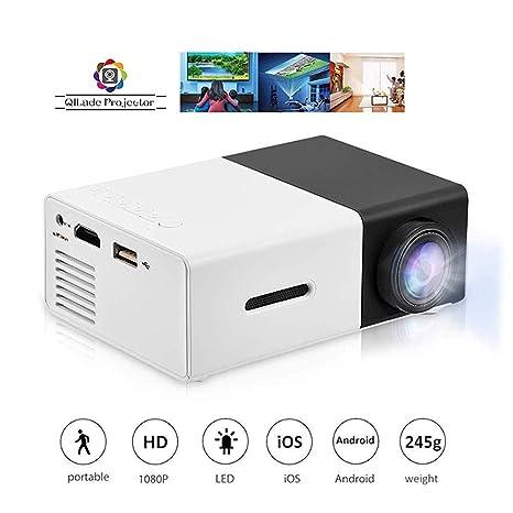 SWEET 1080P Proyector De 320x240 Píxeles, Soporte USB/HDMI/AV SD ...