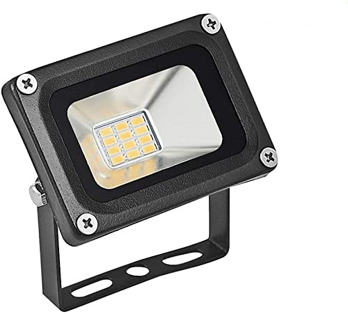 Missbee 10 Pack-10W Led Flood Light, Outdoor Spotlight,Waterproof IP65,2800-3000K, 1100lm, Super Bright Security Lights for Garage, Garden, Lawn,Yard and Playground Warm White