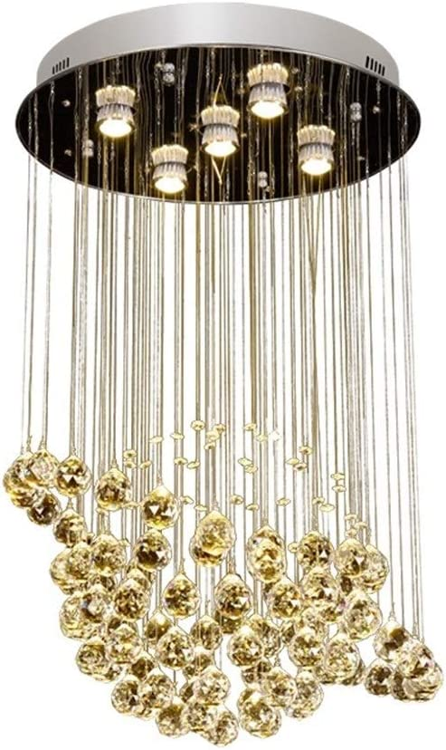 Round Shaped Raindrop Crystal Chandelier Ceiling Lights