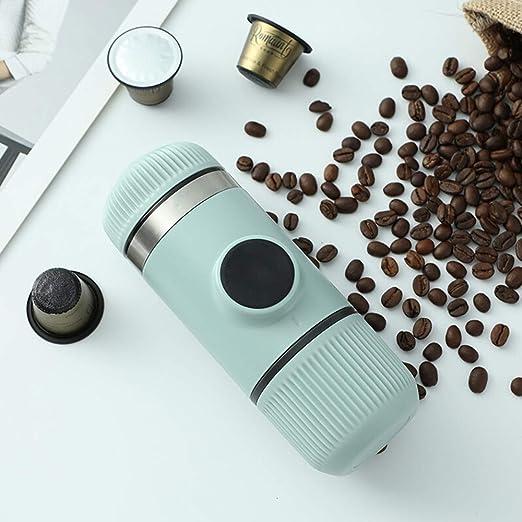 XIAOLULU Cafetera portátil Mini máquina de café Espresso Viajes ...