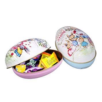 2pcs easter egg shaped candy box easter alloy metal trinket tin 2pcs easter egg shaped candy box easter alloy metal trinket tin gift box party decor tinplate negle